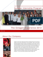 2012 Octagon Experience Information