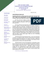 COIB Press Release & Disposition (DOE)-1