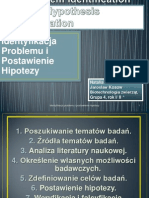 Problem Identification and Hypothesis Formation