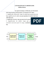 Diagrama en Bloques de Un Amplificador Operacional
