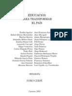 Separata - Educación para transformar un país - P. Luis Ugalde sj / CERPE