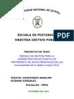 Plan de Tesis Modelo de Gestion Admin PTAR