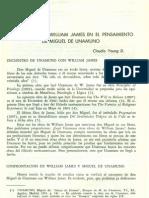 La Presencia de William James en El to de Miguel de Unamuno