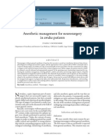 Anesthetic Management for Neurosurgery in Awake Patients
