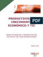 Productividad Crecimiento Economico Tic
