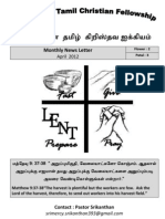 Wellington Tamil Christian Fellowship News Letter April 2012 v1