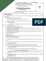 2011 WE Application Form