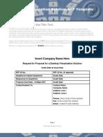 Desktop Virtualization Solution RFP Template