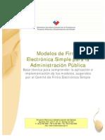 Modelos de Firma Electronic A