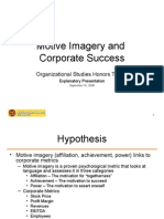 Motive Imagery and Corporate Success