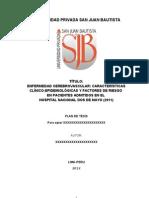 Proyecto-Enfermedad Cerebrovascular Caracteristicas Clinico y Factores de Dra Ana Valdez
