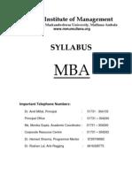 MBA Syllabus 17.1