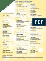 NATPE Market & Conference 2009 Buyer List