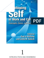 Developing Self in Work and Career Concepts, Cases, And Contexts