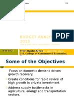 Budget Analysis 2012-2013
