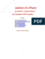 Depopulation of a Planet Thinning Out the Useless Eaters an Unspoken NWO Agenda-Martin