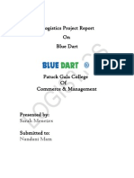 Blue Dart Logistic Project