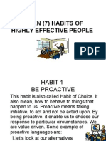 Habits of Effective People 2008
