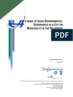 An Index of Good Envl Governance