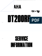 Yamaha DT200R Service