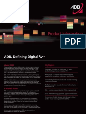 ADB Product Brochure | Iptv | Set Top Box