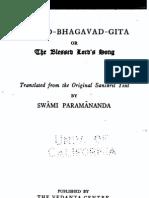 Bhagavad Gita - translated by Swami Paramananda