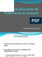 Primeras Escuelas de Enfermería en España 2003