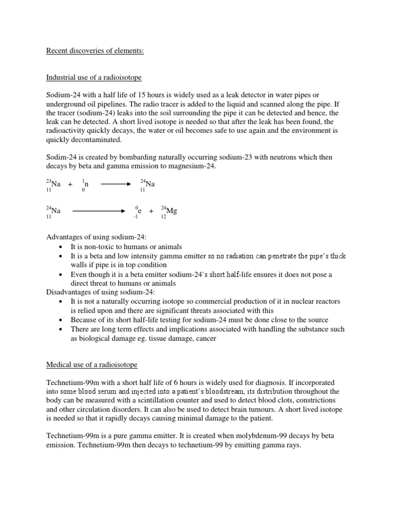 essay on radioisotopes  essay on radioisotopes