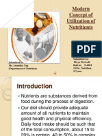 Modern Concept of Utilization of Nutritients