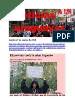 Noticias Uruguayas Martes 27 de Marzo de 2012