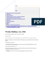 Weekly Holidays Act 1942