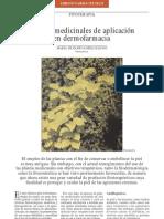 plantas medicinales de aplicación en dermofarmacia