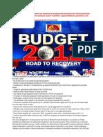 Union Budget 2012
