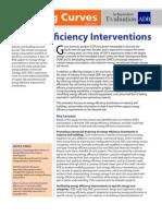 Energy Efficiency Interventions