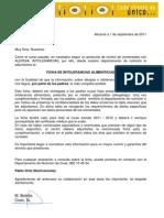 FICHA INTOLERANCIA COES 2011- 2012
