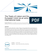 El tratado de Lisboa como actor en comercio internacional (Es)/ The Treaty of Lisbon as an actor in international trade (Spanish)/ Lisboako trataua, merkataritza internazionalaren aktore (Es)