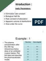 Pharmacokinetics Calculation