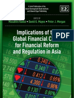 Implications of the Global Financial Crisis for Financial Reform and Regulation in Asia