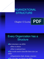 Chapter 12 Lecture 1 Organizational Structure