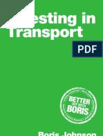 Boris Johnson 2012 Transport Manifesto Final