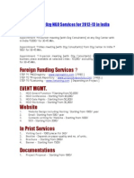 Price List of Ozg NGO Services for 2012