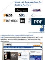 Top Associations and Organizations for Meeting Planners