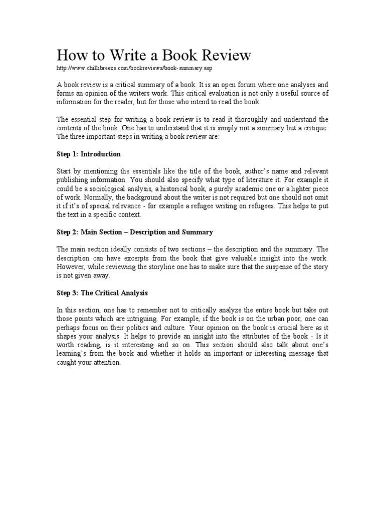 critical analysis examples