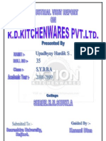 K.D.ketcHENWARES Pvt.ltd. Project Report-Prince Dudhatra