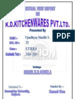 K.D.ketcHENWARES Pvt.ltd. Project Report-Prince Dudhatra