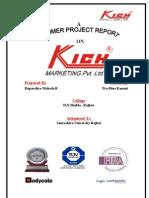 KICH MKT PVT LTD Project Report-Prince Dudhatra