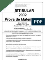 Prova UFPI - Matematica_2002