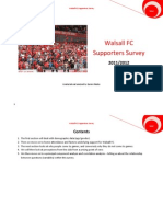 Walsall FC Supporters Survey