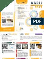 CAMON Murcia. Programación Abril de 2012. Obra Social. CAM
