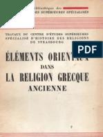 Elements Orientaux Dans La Religion Grecque Ancienne